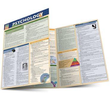 QuickStudy Quick Study Psychology Laminated Study Guide BarCharts Publishing Social Sciences Studies Main Image