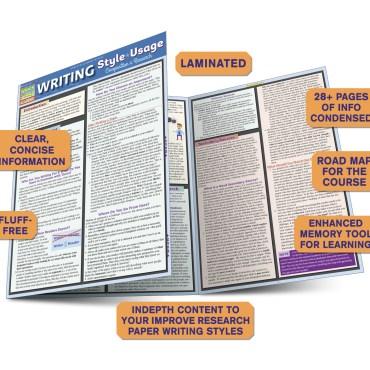 Quick Study QuickStudy Writing Style Usage Laminated Study Guide BarCharts Publishing Language Arts Guide Benefits