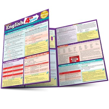 Quick Study QuickStudy English: 4th Grade Laminated Study Guide BarCharts Publishing Grade School Academic Reference Main Image