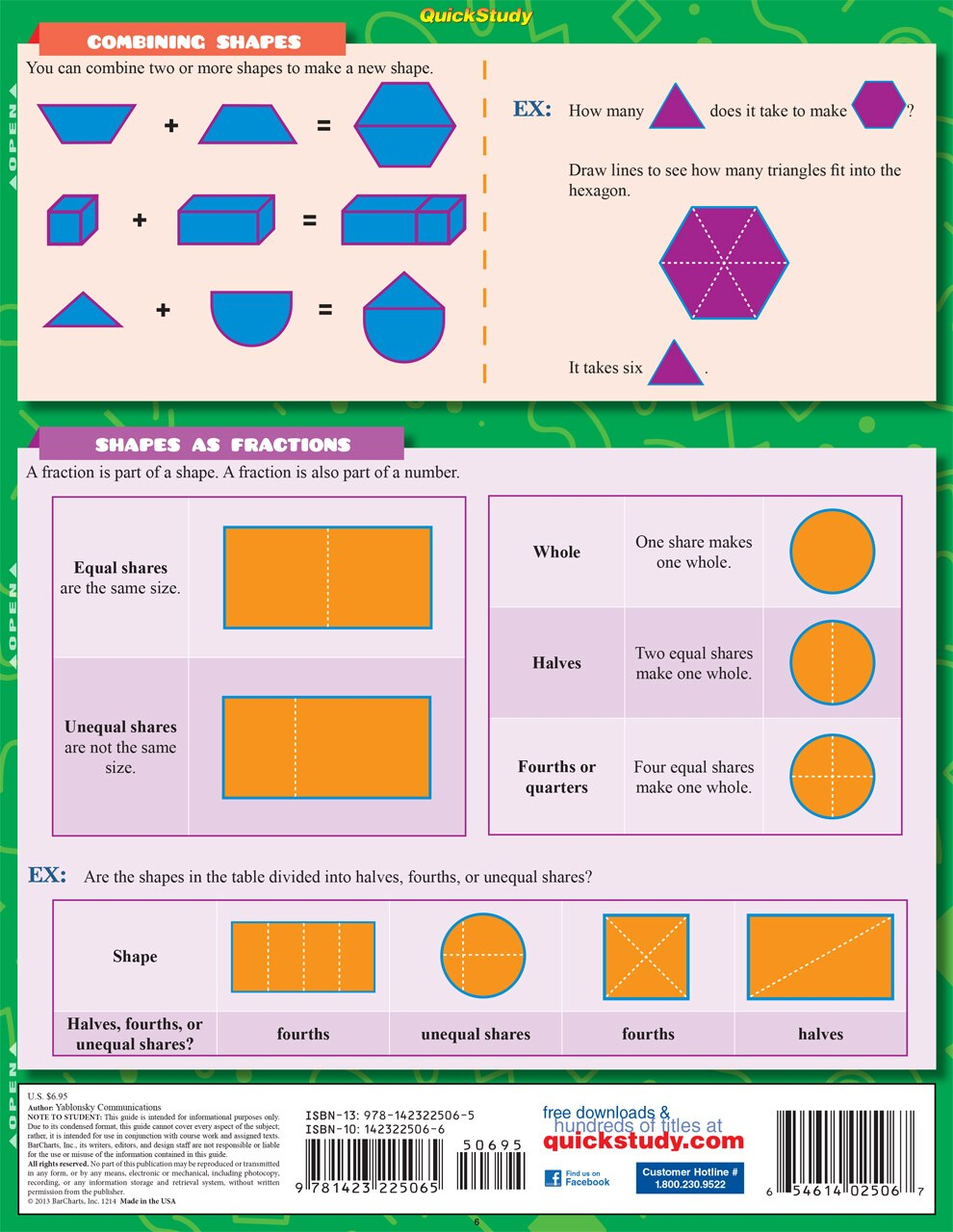 Quick Study QuickStudy Math: 1st Grade Laminated Study Guide BarCharts Publishing Mathematics Study Outline Back Image