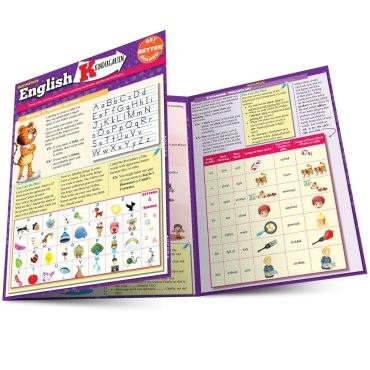Quick Study QuickStudy English: Kindergarten  Laminated Study Guide BarCharts Publishing Grade School Reference Main Image