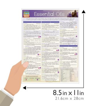 QuickStudy Quick Study Essential Oils Laminated Reference Guides Health BarCharts Publishing Guide Size