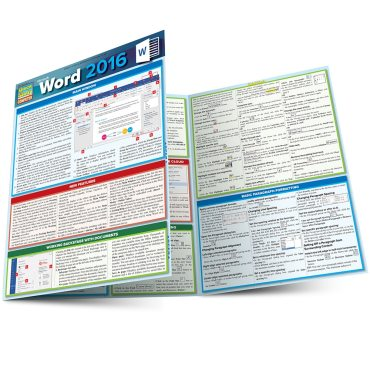 Quick Study QuickStudy Microsoft Word 2016 Laminated Reference Guide BarCharts Publishing Computer Software Guide Main Image