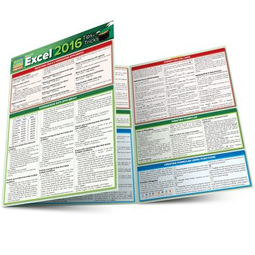 Quick Study QuickStudy Microsoft Excel 2016: Tips & Tricks Laminated Reference Guide BarCharts Publishing Business Software Reference Main Image