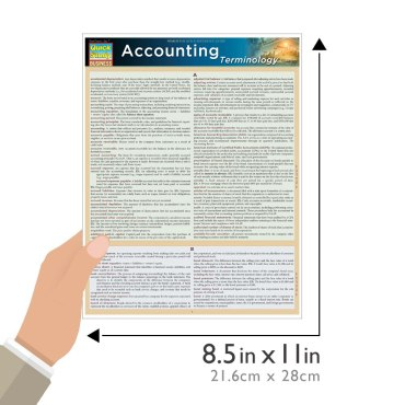 Quick Study QuickStudy Accounting Terminology Laminated Study Guide BarCharts Publishing Business Reference Guide Size
