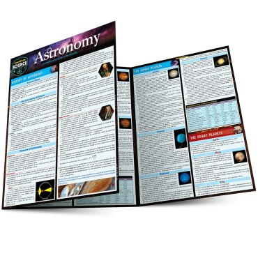 Quick Study QuickStudy Astronomy Laminated Study Guide BarCharts Publishing Academic Science Guide Main Image