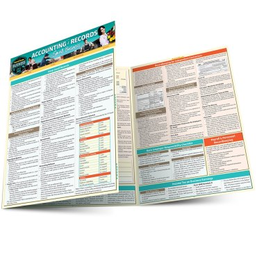 Quick Study QuickStudy Accounting & Records for Small Business Laminated Study Guide BarCharts Publishing Business Reference Main Image