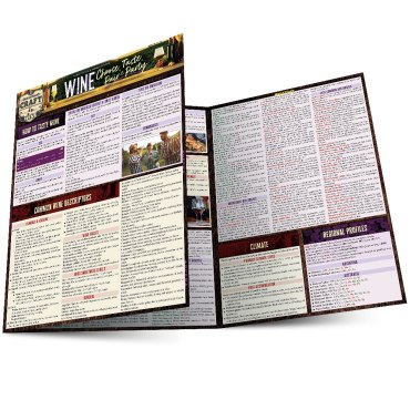 Quick Study QuickStudy Wine: Choose, Taste, Pair & Party Laminated Reference Guide BarCharts Publishing Food &Beverage Lifestyle Outline Main Image