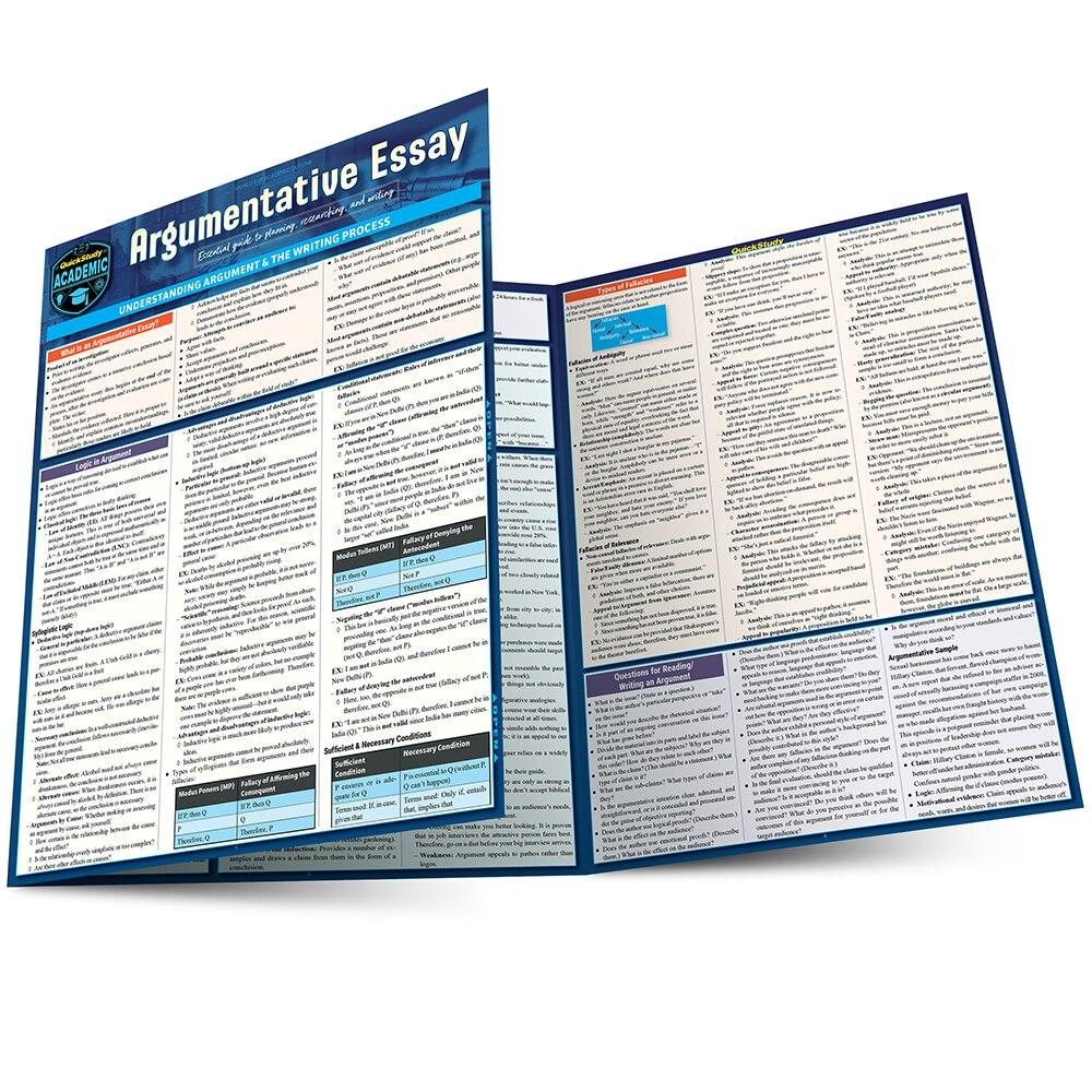 Quick Study QuickStudy Argumentative Essay Laminated Study Guide BarCharts Publishing Language Arts Reference Main Image