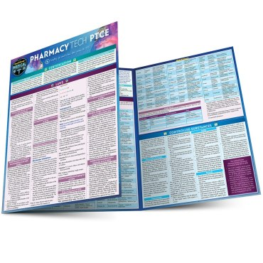 Quick Study QuickStudy Pharmacy Technician (PTCE) Laminated Study Guide BarCharts Publishing Medical Career Reference Main Image