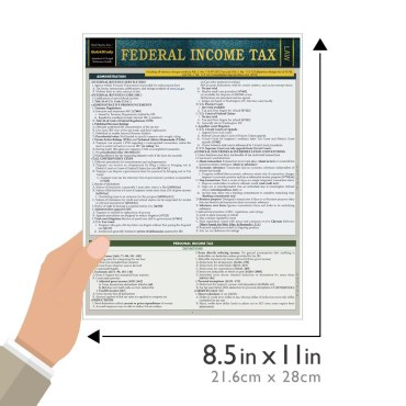 Quick Study QuickStudy Federal Income Tax Laminated Study Guide BarCharts Publishing Government Law Reference Outline Guide Size