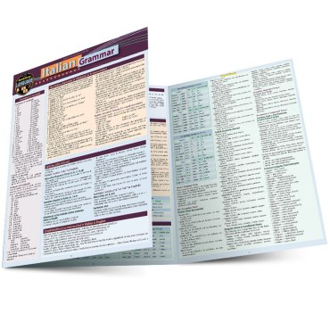 QuickStudy Quick Study Italian Grammar Laminated Study Guide BarCharts Publishing Foreign Languages Main Image