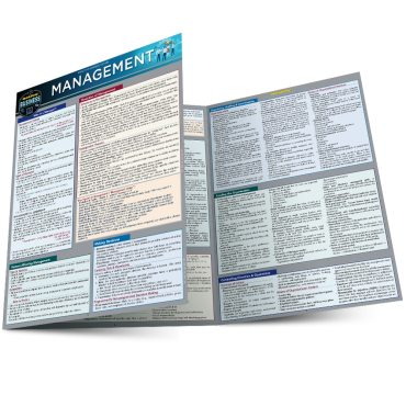 Quick Study QuickStudy Management Laminated Reference Guide BarCharts Publishing Business Leadership Outline Main Image