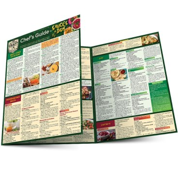 Quick Study QuickStudy Chef's Guide to Sauces & Dips Laminated Reference Guide BarCharts Publishing Culinary Reference Outline Main Image