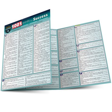 Quick Study QuickStudy 1001 Words For Success: Synonyms, Antonyms & Homonyms Laminated Study Guide BarCharts Publishing Language Arts Reference Main Image