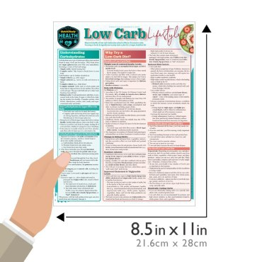 Quick Study QuickStudy Low Carb Lifestyle Laminated Reference Guide BarCharts Publishing Health & Lifestyle Reference Guide Size