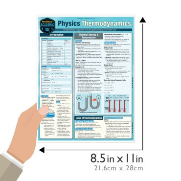 Quick Study QuickStudy Physics Thermodynamics Laminated Study Guide BarCharts Publishing Science Reference Guide Size