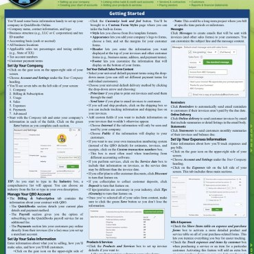 Quick Study QuickStudy Quickbooks Laminated Reference Guide BarCharts Publishing Business/Finance Productivity Software Outline Cover Image