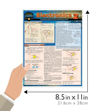 Quick Study QuickStudy Electronics 2 Laminated Reference Guide BarCharts Publishing Engineering Reference Guide Size