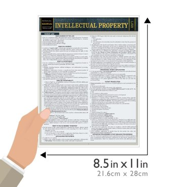 Quick Study QuickStudy Intellectual Property Laminated Study Guide BarCharts Publishing Legal Guide Size