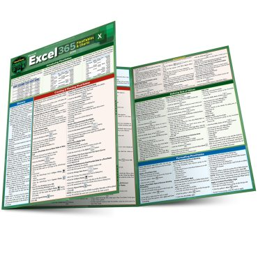 Quick Study QuickStudy Excel 365 Pivot Tables & Charts Laminated Reference Guide BarCharts Publishing Business Software Reference Main Image