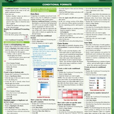 Quick Study QuickStudy Microsoft Excel 365: Advanced Laminated Study Guide BarCharts Publishing Computer Business Software Reference Cover Image