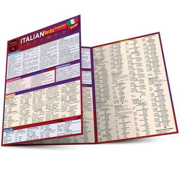 Quick Study QuickStudy Italian Verbs: Conjugations Laminated Study Guide BarCharts Publishing Foreign Language Reference Main Image