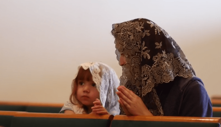 mother and child veiling