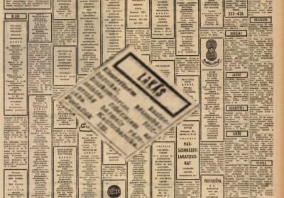 ad4a24e783 Egy meglepő apróhirdetés 1972-ből – avagy a kazincbarcikai egyperces  novella – Barcikai Históriás