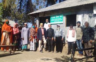 নেত্রকোনার ফসলবৈচিত্র্য পরিদর্শন করছেন হবিগঞ্জের কৃষকরা