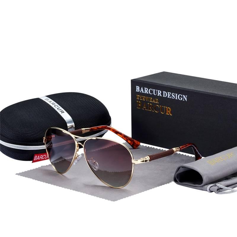 BARCUR High Quality +TR90 Material Sunglasses HD Polarized Men Women Pilot UV400 BC8009 Sunglasses for Men Sunglasses for Women TR90 Material Sunglasses