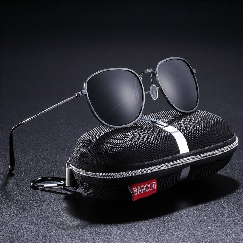 BARCUR Aluminum Hexagon Sunglasses BC3547 Sunglasses for Men Aluminium Sunglasses Sunglasses for Women