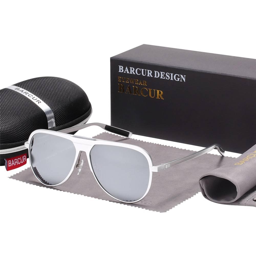 BARCUR Aluminum Magnesium Male Sunglasses BC8589 Sunglasses for Men Aluminium Sunglasses Round Series Sunglasses Sunglasses for Women