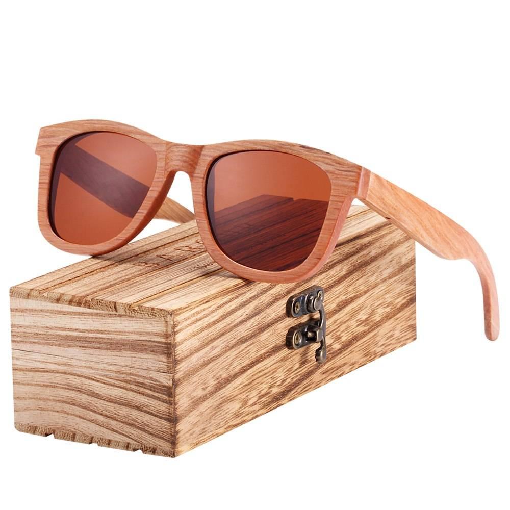 BARCUR Square DU Wood Sunglasses Men Women driving Traveling Vintage BC8215 Sunglasses for Men Sunglasses for Women Wooden Sunglasses