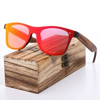 BARCUR Polarized Zebra Wooden Brand Vintage Style Sunglasses BC4126 Sunglasses for Men Sunglasses for Women Wooden Sunglasses