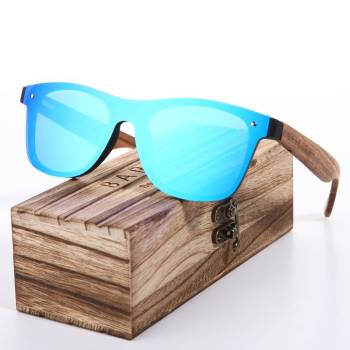 BARCUR Wood Glasses Black Walnut Sunglasses Unisex BC4205 Sunglasses for Men Sunglasses for Women Wooden Sunglasses