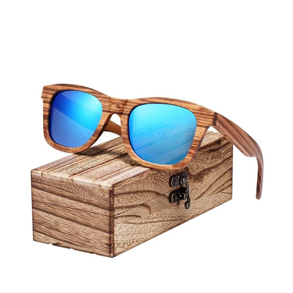 BARCUR Wood Zebra Men Women Sunglasses Fashion 100% Handmade Wooden Sun glasses polarized Design Summer Style Ladies Eyewear BC8300 Sunglasses for Men Sunglasses for Women Wooden Sunglasses