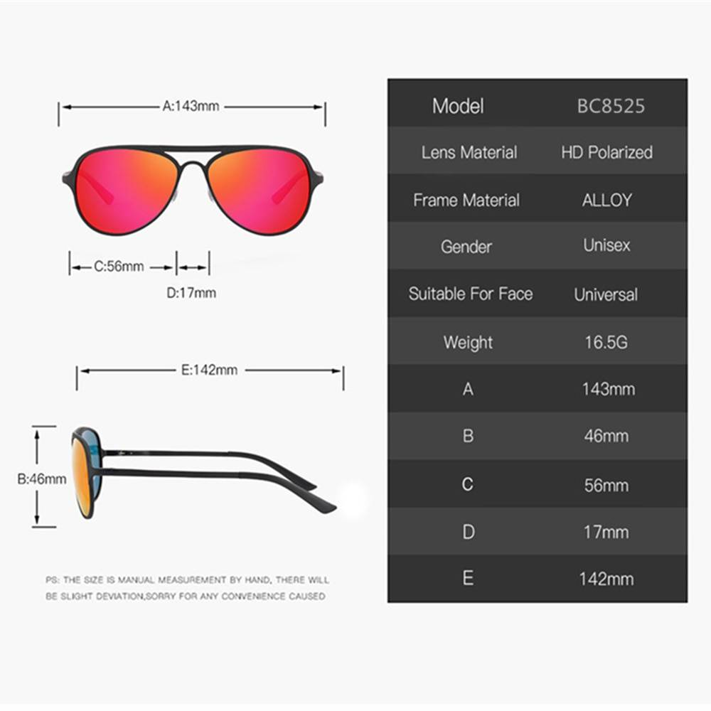 BARCUR Male Sunglasses Polarized Aluminium Ultralight Pilot Sunglasses for Women Sports BC8525 Sunglasses for Men Aluminium Sunglasses Sunglasses for Women
