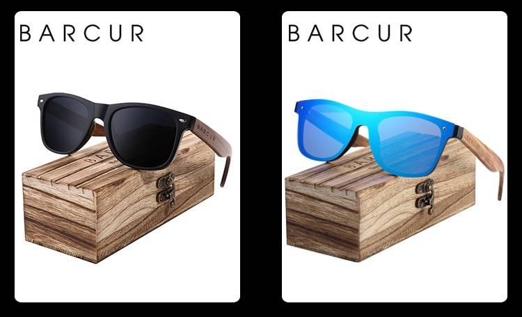 BARCUR BC8688 Pilot Style Vintage Men's Sunglasses Polarized Coating Classic