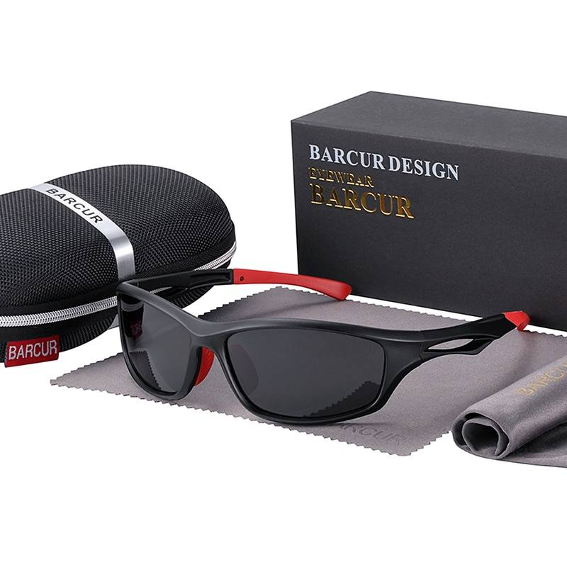 BARCUR BC2050 TR90 Sport Trendy Sunglasses Driving Men 2021 Polarized Sunglasses for Women Fashion Glasses UV400