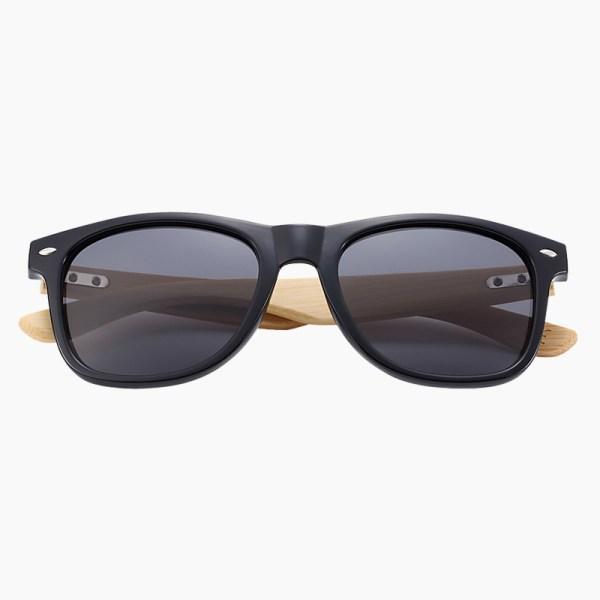 BARCUR - Γυαλιά Ηλίου Bamboo Wayfarer Style Μαύρα με Black Polarized Φακό (4175)