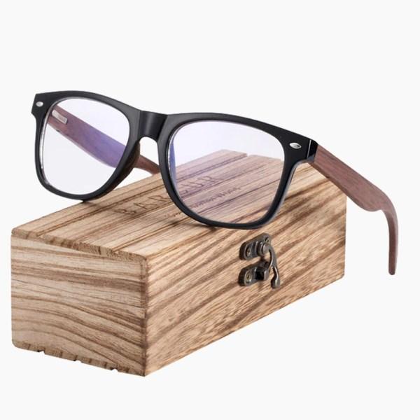 BARCUR - Γυαλιά Anti-Blue Ray Wallnut Wayfarer Style Gloss Μαύρα (8700)