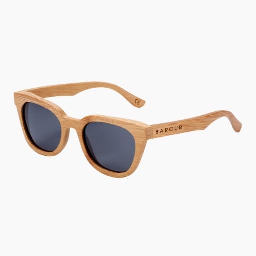 BARCUR - Γυαλιά Ηλίου Bamboo Upturned Style με Black Polarized Φακό (8212)