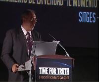 Miguel Celades Rex en la Primera Cumbre Europea de Exopolítica de Sitges. 25 de Julio de 2009.