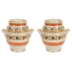 Flight Barr & Barr Worcester Porcelain Ice Pails, 19th c.