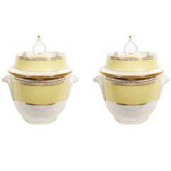 Yellow Coalport Ice Pails, early 19th c.