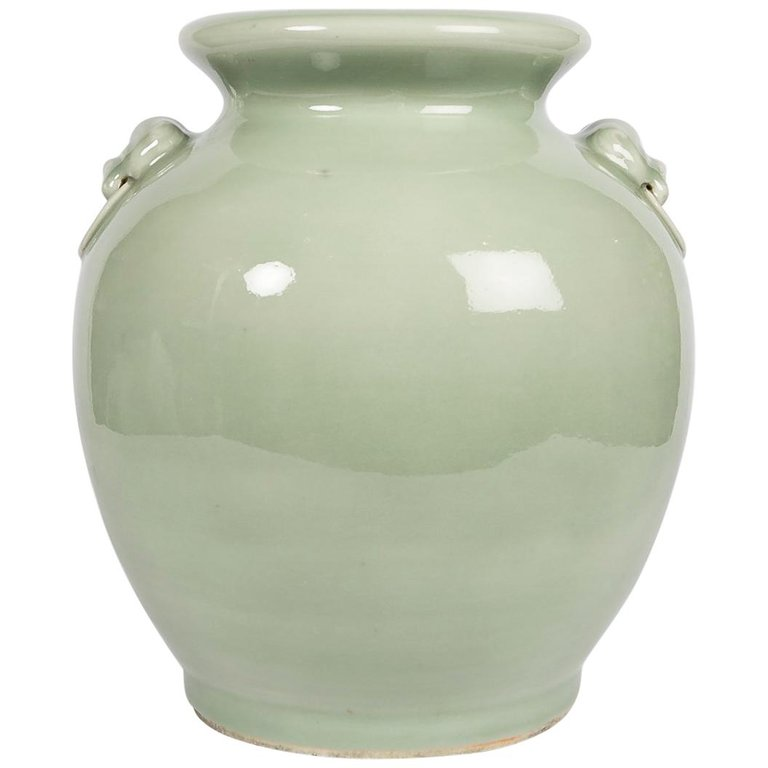 Antique Chinese Celadon Jar In Yue Style Bardith Ltd