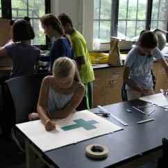 Following afternoon activities the students go to their last class. Art in math is another class that we offer at CAMP. Here students are able to access the creative side of math that is so often overlooked.