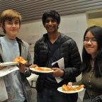 Students gt to have pizza after finishing the test.
