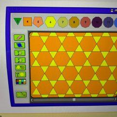 Student create their own tessellation digitally.